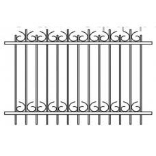 Кованый забор 001