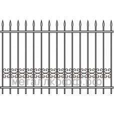 Кованый забор 007