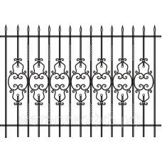 Кованый забор 012
