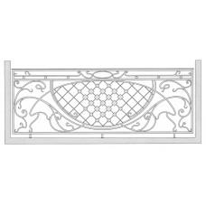 Балкон кованый 03